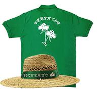 制作したTシャツと麦わら帽子